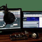 USB Mikrofon im Studio